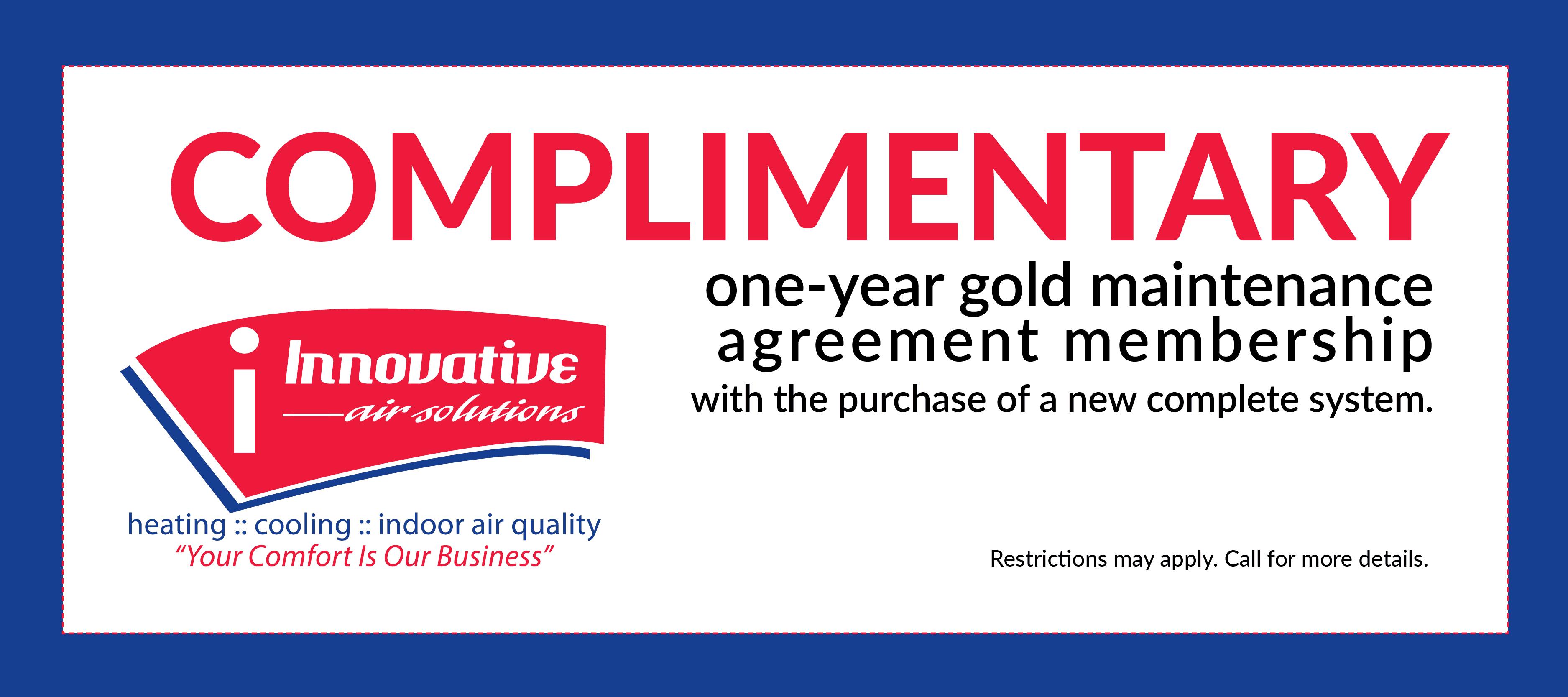 IAS Maintenance coupon