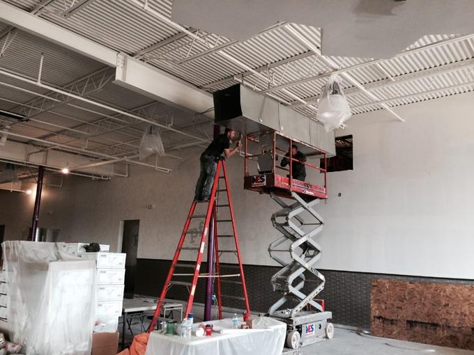 Planet Fitness HVAC Installation In-progress